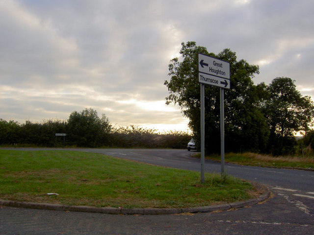 Junction with road to Great Houghton.