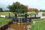 Trent and Mersey Canal from Lock 59 north of Hassall Green, Cheshire