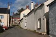 Stoke Rivers: village street