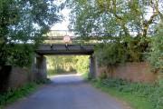 Bridge carrying Leeds to Sheffield railway line.