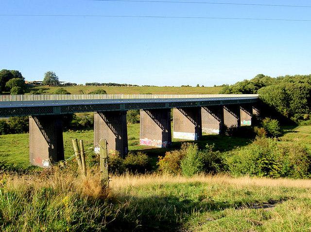 Disused railway viaduct.