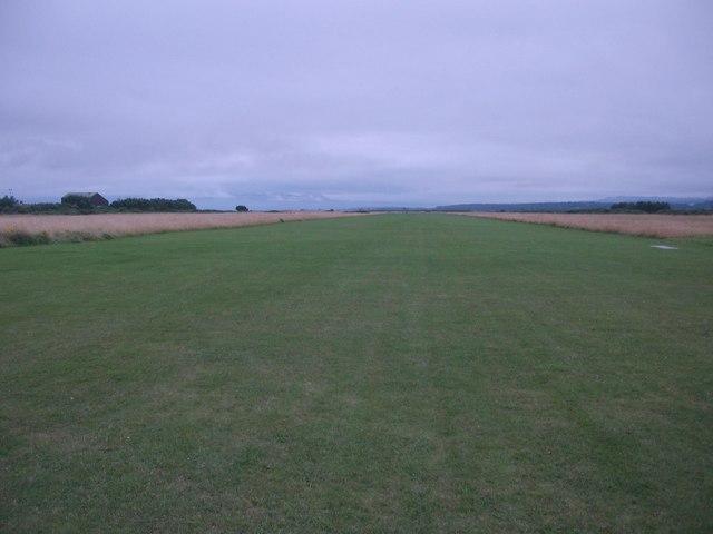 Runway at Dornoch airfield