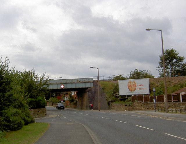 Leeds to Sheffield railway bridge on Hunningley Lane.