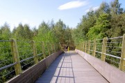 Footbridge on the Trans Pennine Trail over the River Dearne.