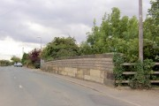 Railway bridge abutment in Warmsworth.