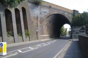 Harpenden: Southdown Road skew bridge (1)