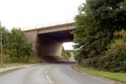 M62 bridge over B road.