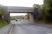 Railway bridge over A6135