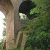 Part of the 3 arched bridge carrying the London to Dover railway line