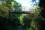 Footbridge over cycle track