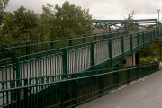 Access ramp to footbridge over River Don
