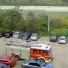 Fire brigade checking factory
