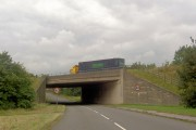 M1 motorway bridge over local road