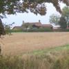 Farmland looking towards farmstead