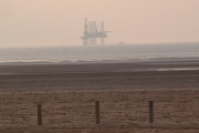Gas Rig in the Irish Sea off Ainsdale
