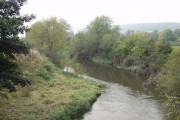 Afon Hafren  (River Severn)  from Maginnis Bridge