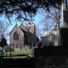 Birstall Parish Church and the War Memorial