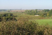 View across farmland from Hacklinge Hill