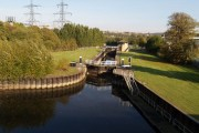 Lock on the Sheffield and South Yorkshire Navigation