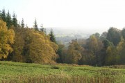 View down valley to woodland north of Blanchland