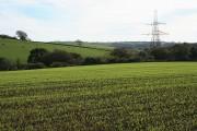 Bulkworthy: by an overhead transmission line
