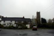 Pyworthy village and church