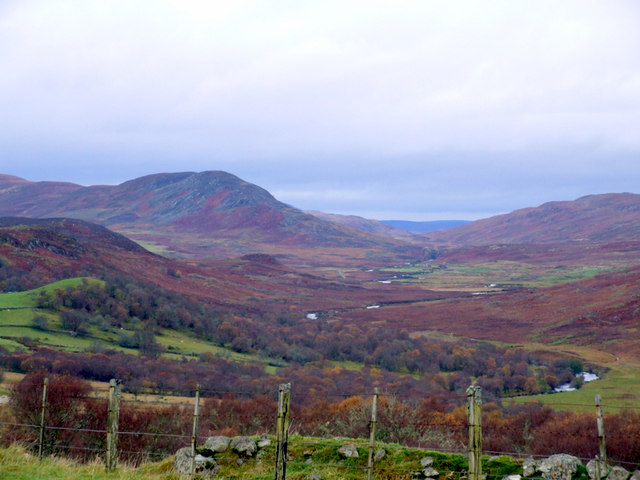 Looking to the head of Strath Brora from Tannachy