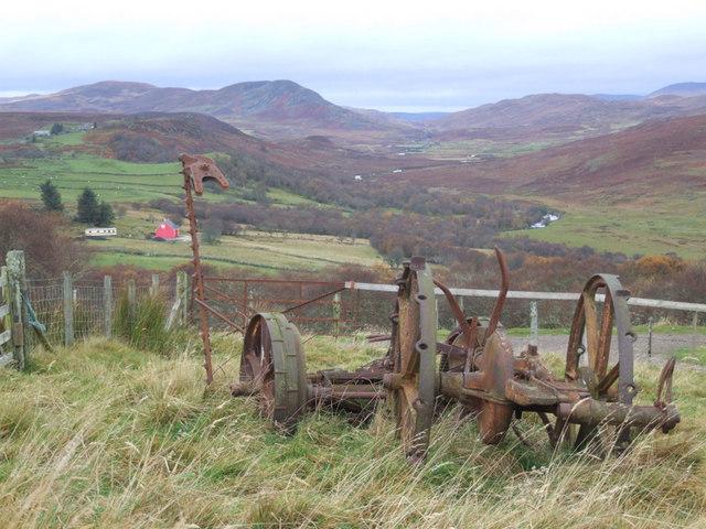 Old farm machinery, Tannachy