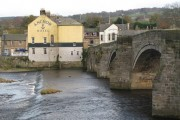 The old bridge and the Anchor Hotel