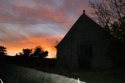 Sunset behind Midhopestones Church