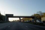 Bridge across the M1 to Wales