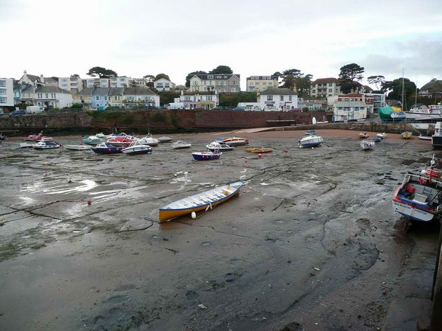 Paignton Harbour at low tide