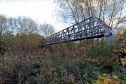 Pipe bridge over the River Don near Tinsley