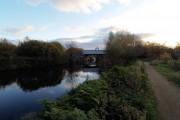 Railway bridge over the River Don near Tinsley Sheffield