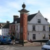 Ottery St Mary: column in Silver Street