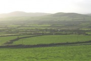 View west across the Daron valley  towards Mynydd Ystum