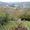 View down a hillside across the Wye Valley