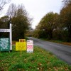 Homemade Signs, Michelham Priory Road