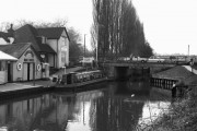 Farncombe Bridge and Boathouse, River Wey, Surrey