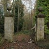 Old gated entrance, Witcombe Wood