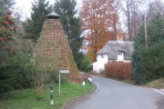 Dovecote and thatched cottage, Dalham