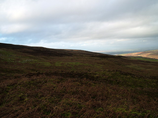 Featureless moorland on Cumrew Fell