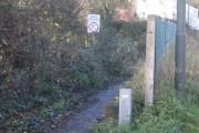 Weak bridge sign but no road