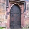 The west door of Hawarden St Deiniol