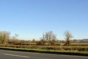 Featureless River Severn flood plain