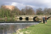 Lady Bridge and weir on River Tame