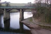 The eastern railway bridge, Crook o' Lune, Caton