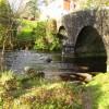 Dartmeet -road bridge and river