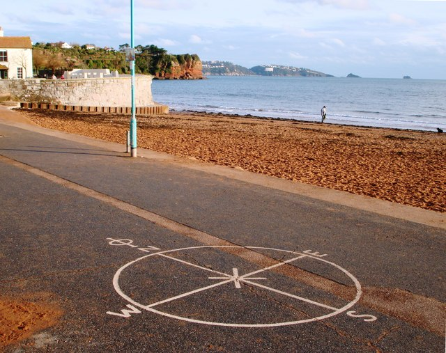 Orientation point, Goodrington Beach, Paignton
