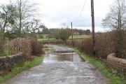 Flooded minor road